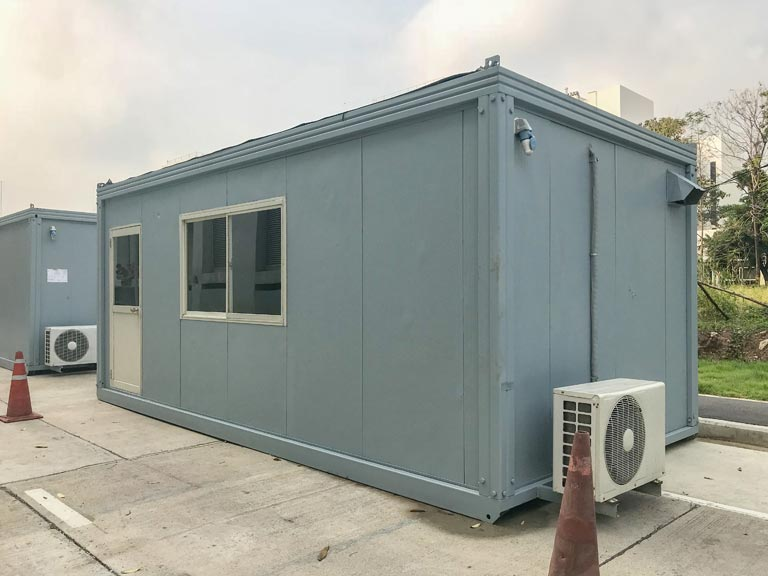 Temporary modular outbuilding to provide additional Office accommodation for an existing Industrial facility